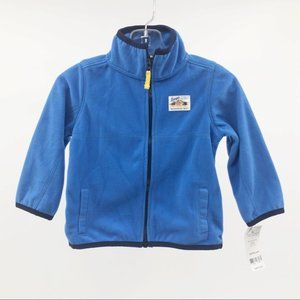 Carter's Fleece Long Sleeve Sweeter Blue Boy 12m